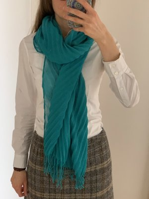 K&L Ruppert Fringed Scarf turquoise polyester