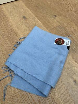 cashmink Sjaal met franjes lichtblauw