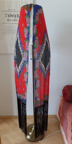 HANDMADE BY GERMANY Fringed Scarf multicolored viscose