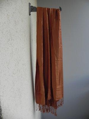 Bufanda de cachemir coñac Cachemir