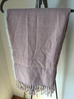 H&M Bufanda de flecos rosa empolvado-malva tejido mezclado