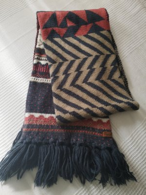 Protest Fringed Scarf multicolored