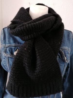 Gehaakte sjaal zwart