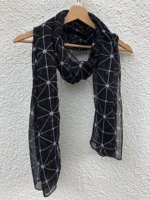 H&M Chal veraniego negro-blanco