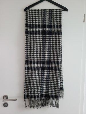 unbekannte Bufanda de lana blanco-negro