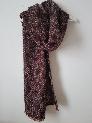 Zara Bufanda de lana burdeos-rosa empolvado