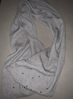 H&M Bufanda de punto gris claro