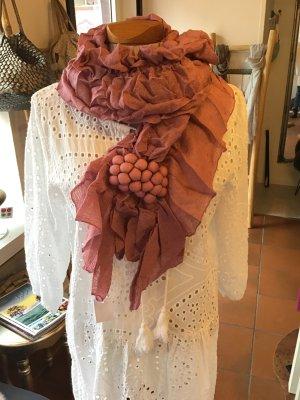 Crinkle Scarf rose-gold-coloured mixture fibre