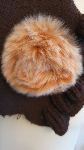 Sciarpa lavorata a maglia marrone