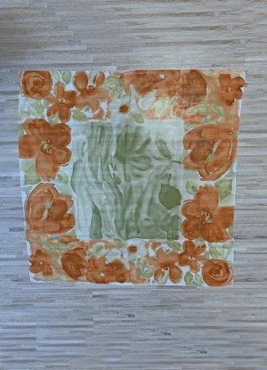 no name Summer Scarf salmon-khaki polyester