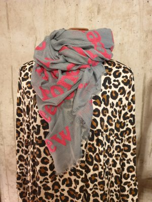 Schal mit Schriftzug in pink