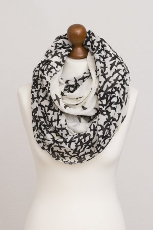 Pieces Tube Scarf black-natural white