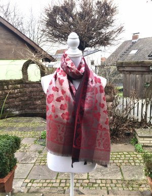 Schal mit Seide Zweiseitig Neu originalverpackt kuschelig weich Dunkel Rot
