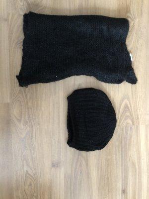 Schal mütze schwarz