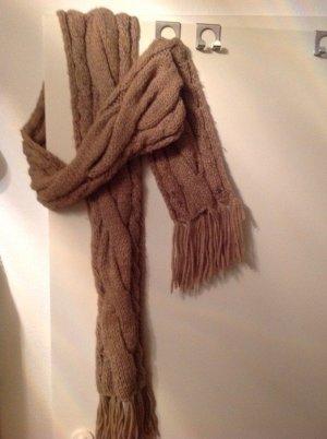 Seeberger Bufanda de lana marrón claro-camel Lana
