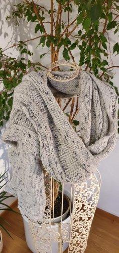 Promod Woolen Scarf light grey-grey