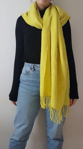 Pieces Écharpe à franges jaune-jaune fluo