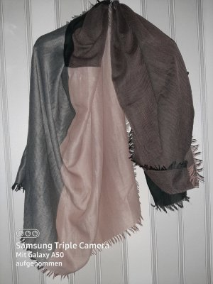 no name Fringed Scarf multicolored