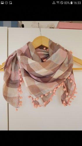 Ostin Sciarpa con frange color oro rosa-color cammello