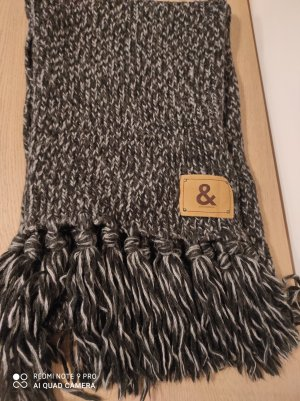 Dolce & Gabbana Sciarpa di lana bianco-nero
