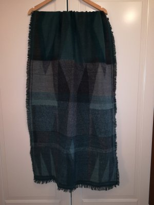 Pieces Fringed Scarf cadet blue