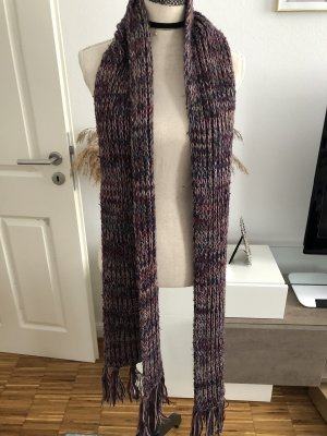 Pieces Knitted Scarf purple-grey lilac