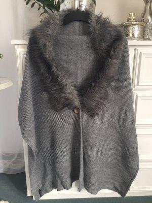 Blind Date Sciarpa lavorata a maglia grigio