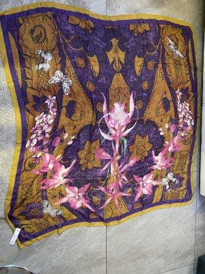 Schal Roberto Cavalli Cashmere NEU Tuch Kaschmir gelb violett