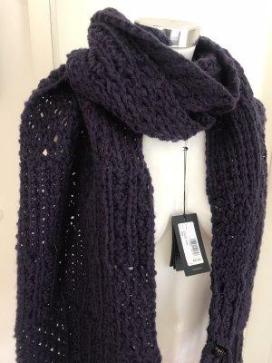 Roeckl Écharpe en tricot violet foncé laine