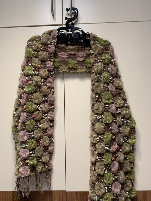 Crinkle Scarf light pink-lime-green