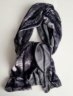 Zomersjaal zwart-grijs