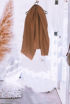 Schal scarf braun beige strick winter warm kuschelig