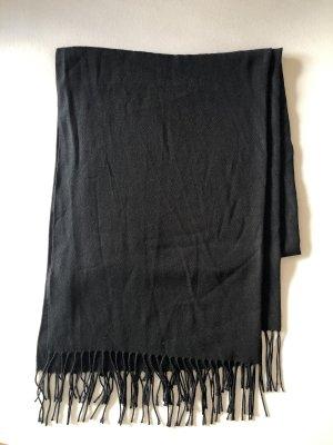 H&M Bufanda de flecos negro