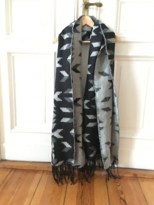 H&M Divided Fringed Scarf multicolored polyacrylic