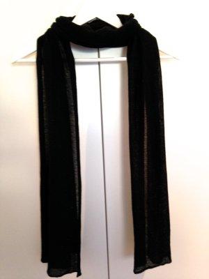 Schal, schwarz, mit