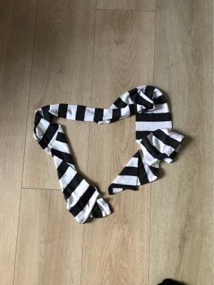 Schal schwarz(oder sehr dunkles grau) + weiß