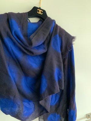 Sciarpa in cashmere blu scuro-blu