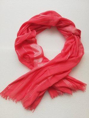 Écharpe à franges rouge clair
