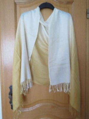 Bufanda de cachemir amarillo pálido