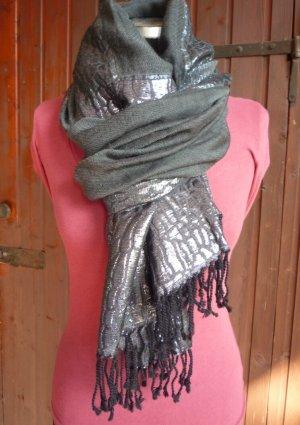 Écharpe en laine argenté-gris