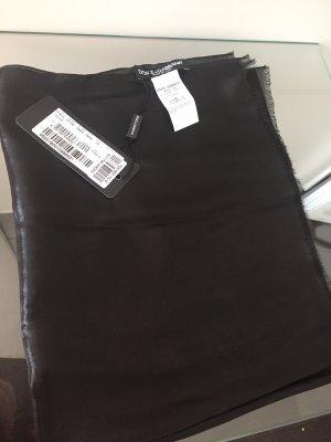 Dolce & Gabbana Écharpe en soie noir soie