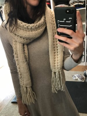 Knitted Scarf natural white