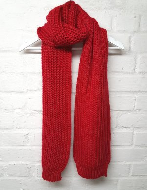 Review Crochet Scarf red-brick red polyacrylic
