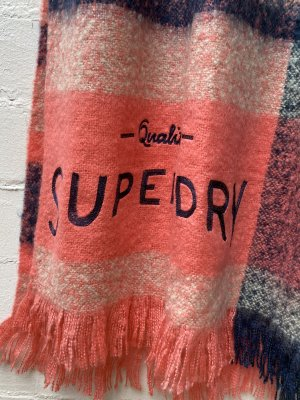 Superdry Fringed Scarf multicolored