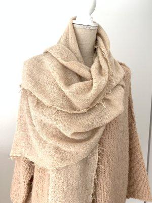 TIF-TIFFY Écharpe en laine rose chair laine