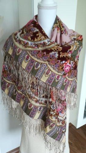 Pawloposad Châle au tricot multicolore laine