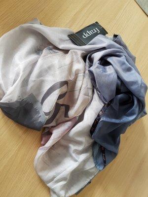 Schal/Tuch blau gemustert