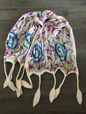 handmade Schoudersjaal veelkleurig Chiffon