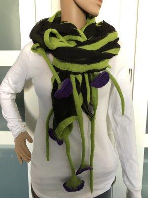 Handmade Bufanda de lana multicolor Gasa