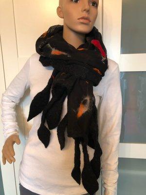 Handmade Woolen Scarf multicolored chiffon